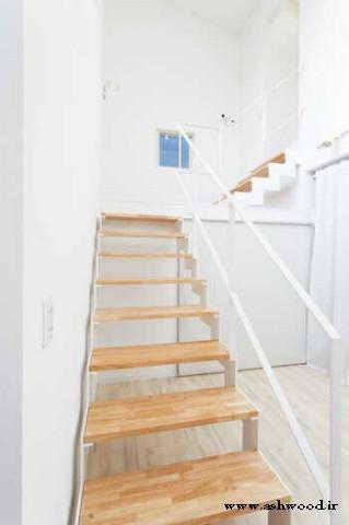 پله چوبی  ,انواع پلکان