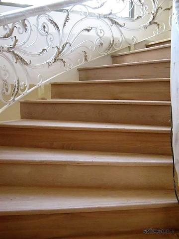 پله چوب راش , چوب راش در ساخت پله چوبی