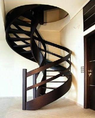 عکس پله گرد چوبی , قیمت پله گرد چوبی , نحوه اجرای پله گرد چوبی