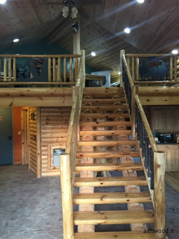 انواع پله چوبی