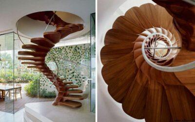 مدل های جالب و دیدنی از انواع پله چوبی