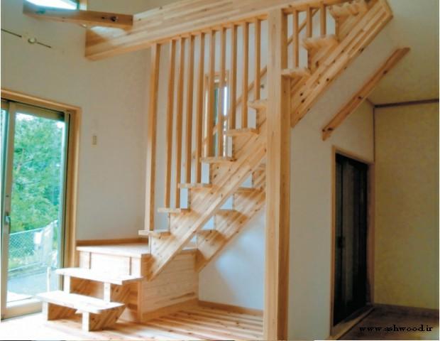 مدل پله چوبی