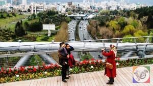 پل طبیعت تهران اتوبان مدرس بوستان طالقانی طراح خانم لیلا عراقیان