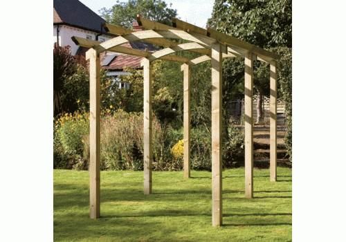 سازه چوبی در فضای باز , چوب ترمووود , پرگولا و روفگاردن