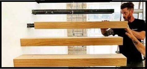 کاور چوبی پله معلق