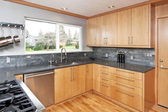چوب های مختلف برای کابینت های چوبی زیبا در آشپزخانه