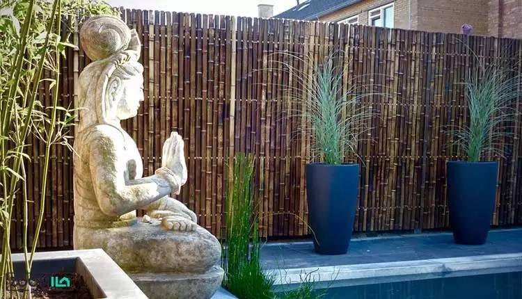 چوب گیاه بامبو برای جدا سازی در فضای باز