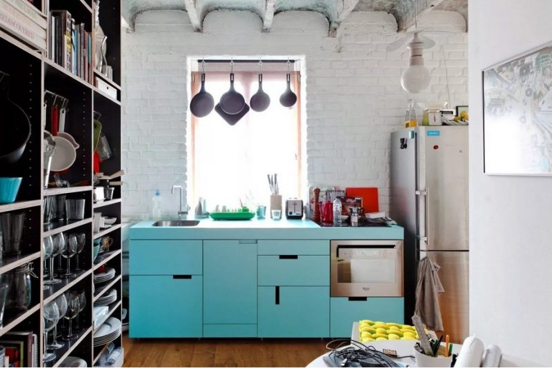 کابینت آبی برای دکوراسیون آشپزخانه