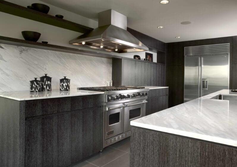 کابینت چوبی خاکستری آشپزخانه