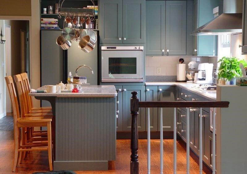 21  ایده کابینت چوبی خاکستری برای آشپزخانه