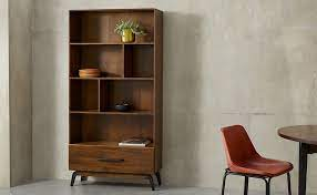 کتابخانه ایستاده چوبی