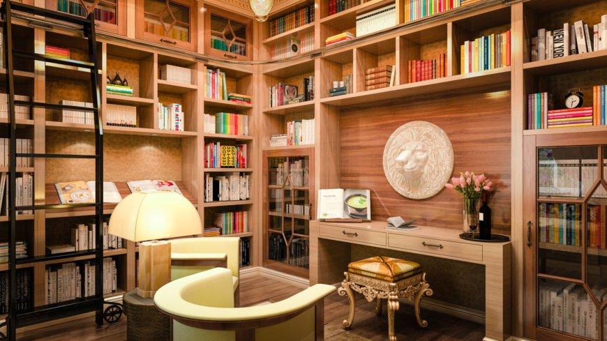 جذاب ترین ایده های طراحی کتابخانه خانگی