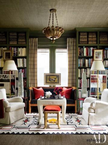 کتابخانه چوبی , دکوراسیون کتابخانه خانگی