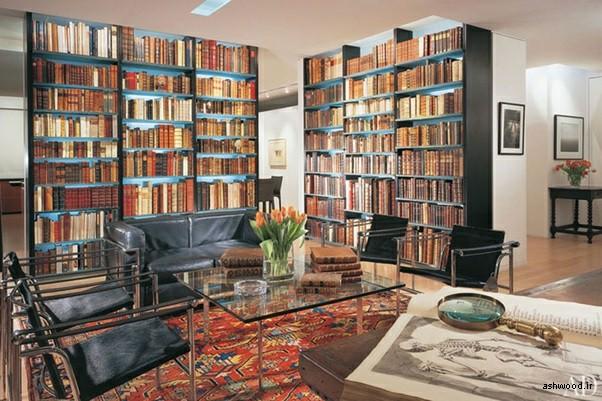 ایده هایی برای کتابخانه چوبی