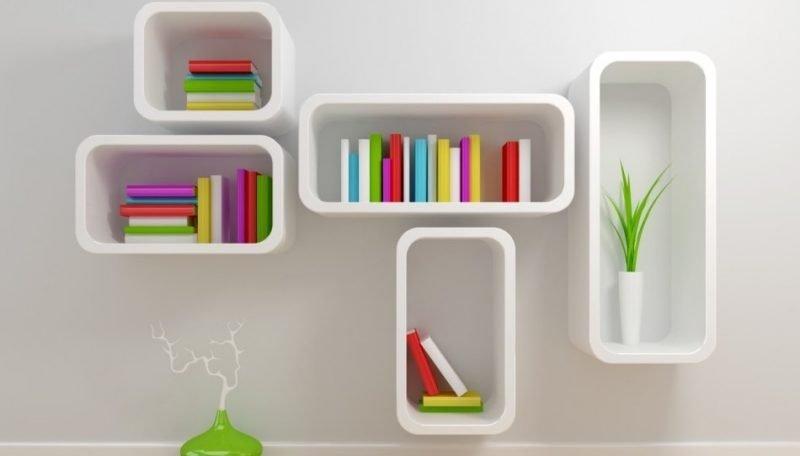کتابخانه چوبی دیواری