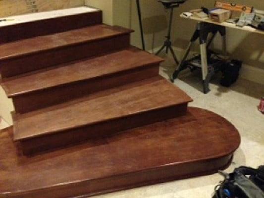 کف پله چوبی , ایده جالب کاور پله , نرده و دست انداز