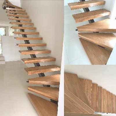کف پله چوبی , ایده جالب کاور پله , نرده و دست انداز , نصب کف پله چوبی