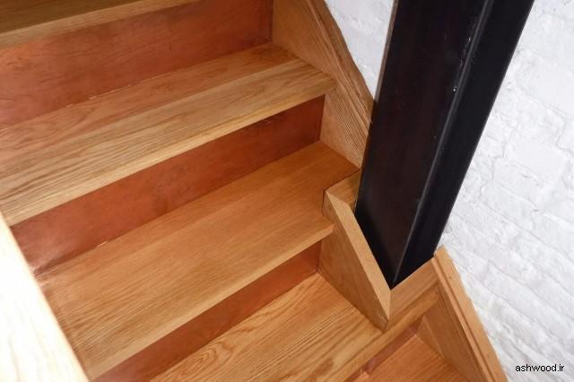 کف پله چوب بلوط