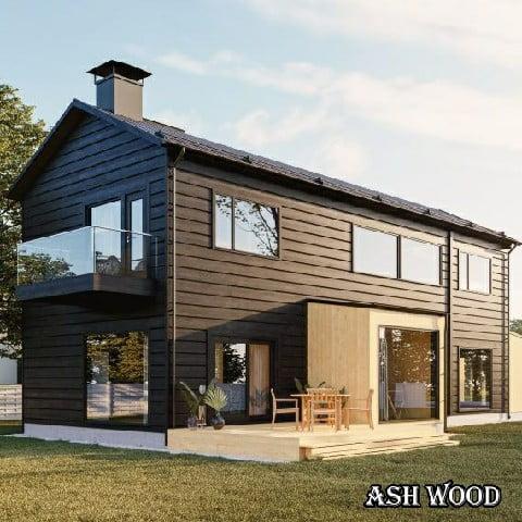کلبه و ساختمان چوبی