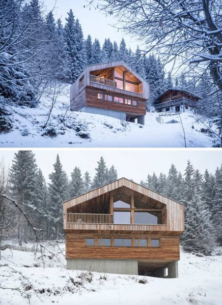 کلبه چوبی کوهی