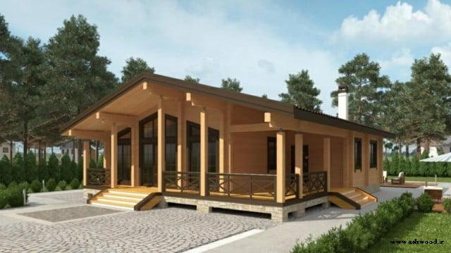 عکس کلبه چوبی , ساختمان چوبی , پلان و نقشه