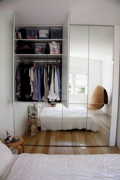 کمد آینه ای برای اتاق های کوچک
