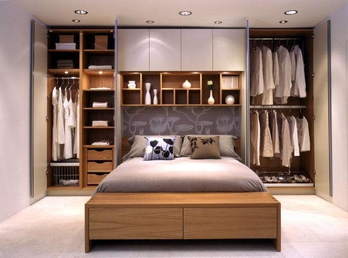 کمد دیواری چوبی برای اتاق خواب