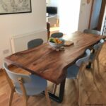 میز ناهار خوری اسلب چوب