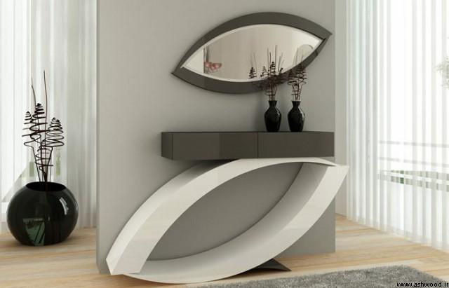 میز کنسول چوبی سبک مدرن