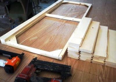 کارگاه درودگری ساخت کنسول چوبی