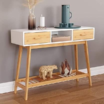 کنسول چوبی مدرن, میز کنسول جدید , کنسول کشو دار