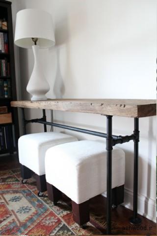 ایده میز کنسول چوبی