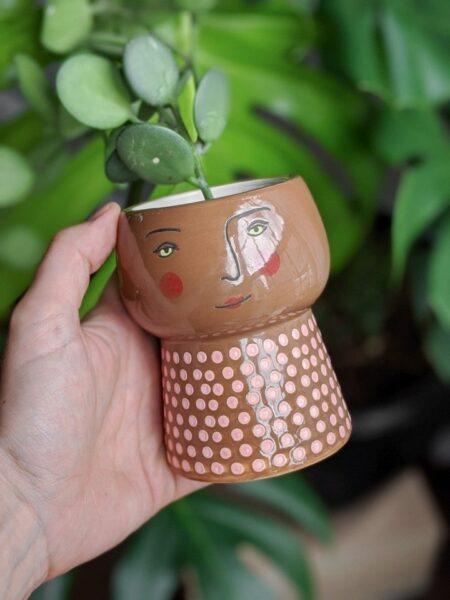 گلدان چوبی دست ساز