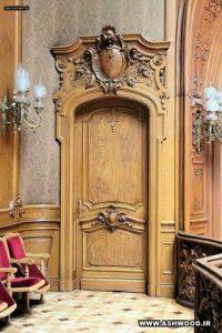 ساخت درب سفارشی ، درب و چهارچوب کلاسیک منبت