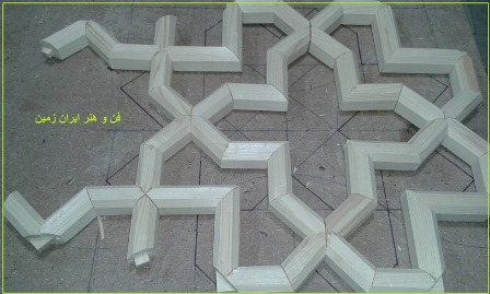 درب چوبی گره چینی ، هنر سنتی ایرانی