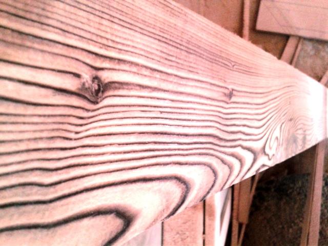 رنگ و سندبلاست ، چوب کاج