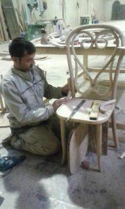 نمونه کار صندلی لهستانی با میز سبک تونت