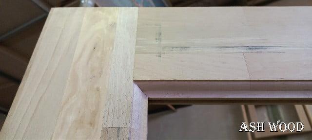 درب اتاقی تمام چوب راش , ساخت درب سفارشی