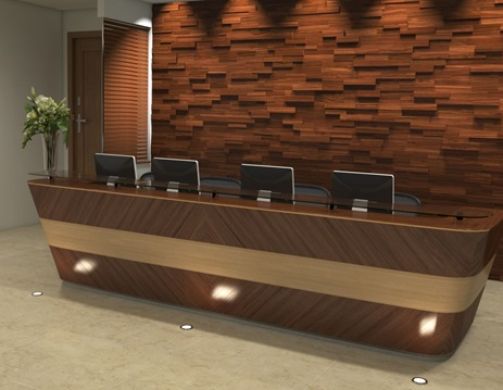دکوراسیون چوبی لابی هتل -  طراحی دیوار در دکوراسیون چوبی لابی هتل