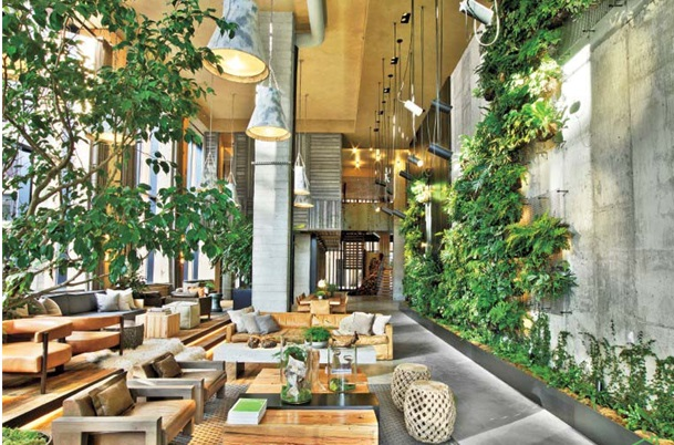 دکوراسیون چوبی لابی هتل - دکوراسیون چوبی لابی هتل پارک پل بروکلین