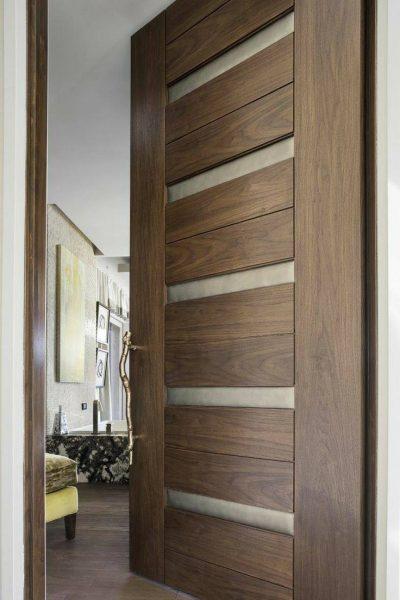 ساخت درب چوبی ورودی ساختمان, مدل جدید 2019 درب چوبی