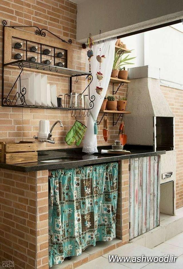 آشپزخانه های زیبا در فضای باز