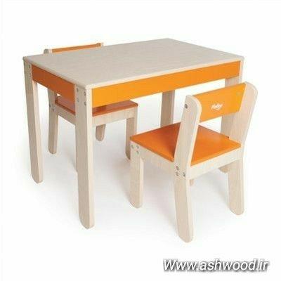 میز و صندلی چوبی کودک، میز تحریر و بازی کودک