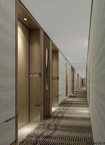 مدل درب چوبی هتل , ایده شماره روی درب