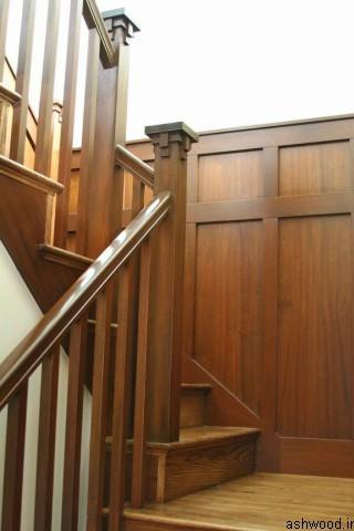 ساخت پله چوبی , نرده پله چوبی