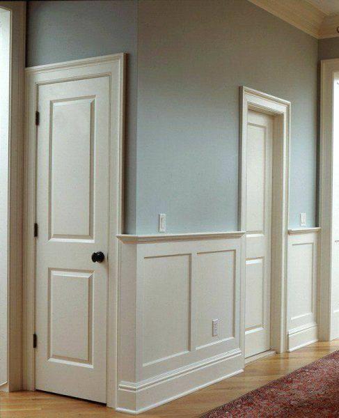 مدل چهارچوب چوبی و درب , روکوب درب و چهارچوب کلاسیک , درب داخلی طرح کلاسیک روکش راش