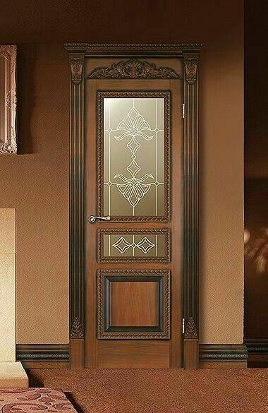 مدل درب چوبی ورودی ساختمان شیشه خور , ایده درب 2019