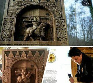 علیرضا باوندپور هنرمند و صنعتگر کرمانشاهی در تورنمنت جهانی چوب برنده شد
