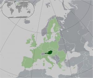 محل اتریش بر روی نقشه زمین