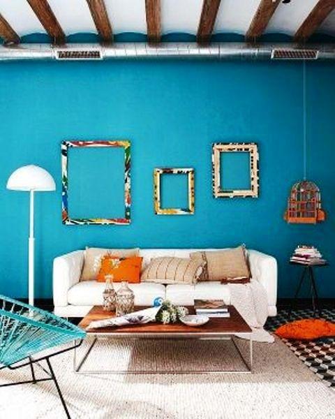 رنگ آبی در آرایه های منزل